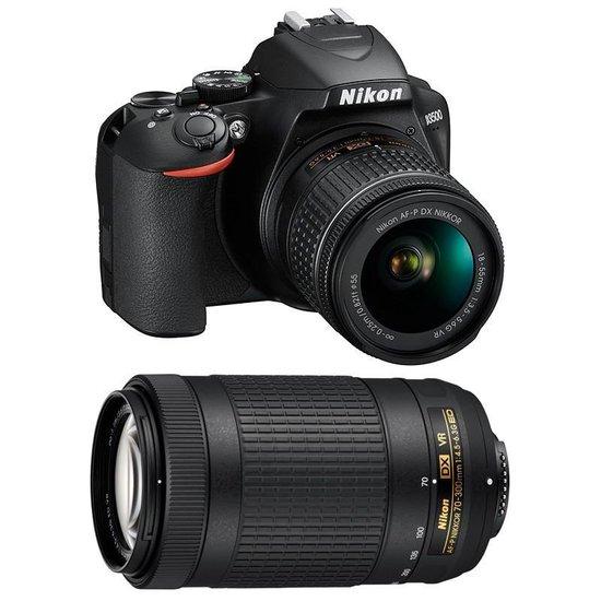Nikon D3500 + AF-P DX 18-55 VR + AF-P 70-300 VR - Zwart