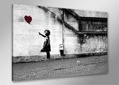 Schilderij - Hope, er is altijd hoop. Banksy