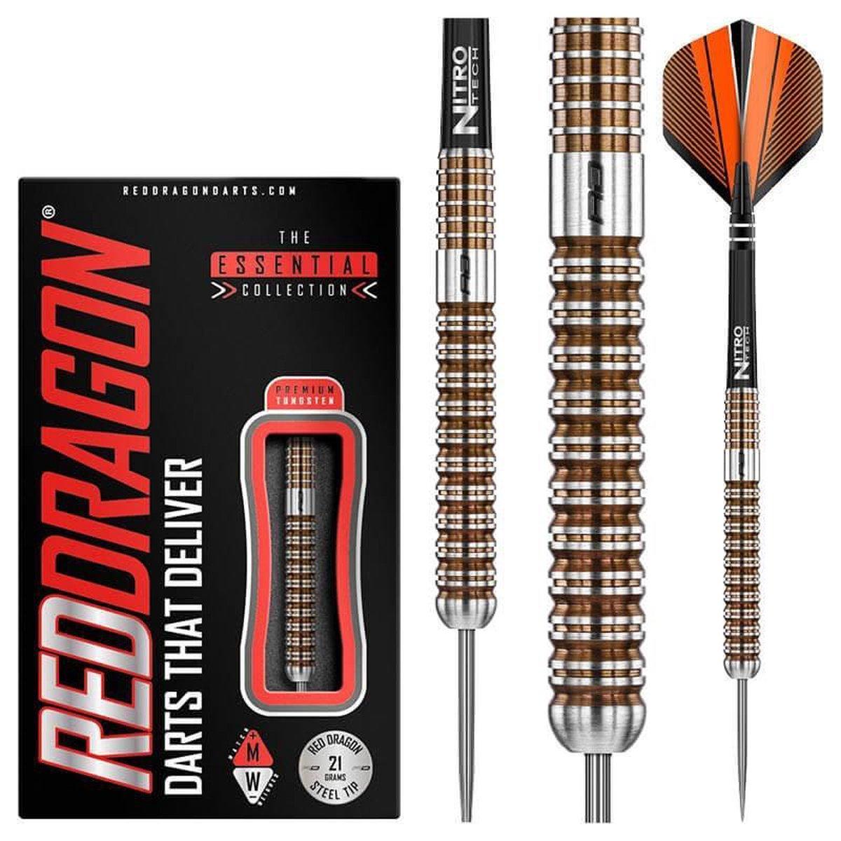 RED DRAGON - Virage: Steeltip Tungsten Dartpijlen Professioneel - 21 gram