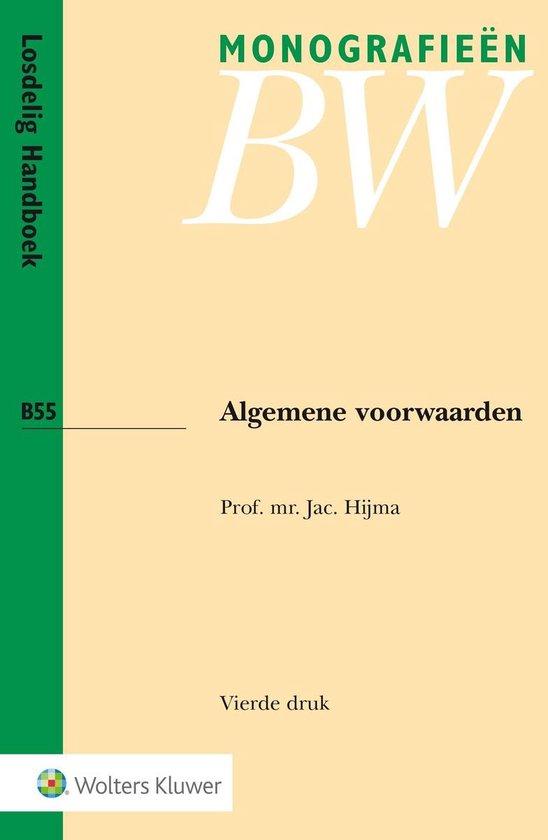 Afbeelding van Monografieen BW 55 - Algemene voorwaarden