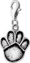 Quiges - 925 Zilver Charm Bedel Hanger Hondenpoot - HC002