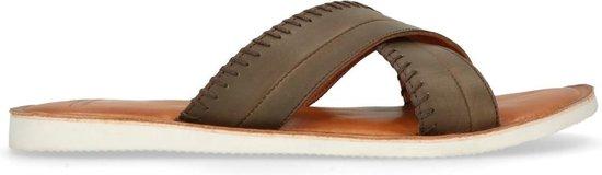 Sacha - Heren - Donkerbruine slippers - Maat 45
