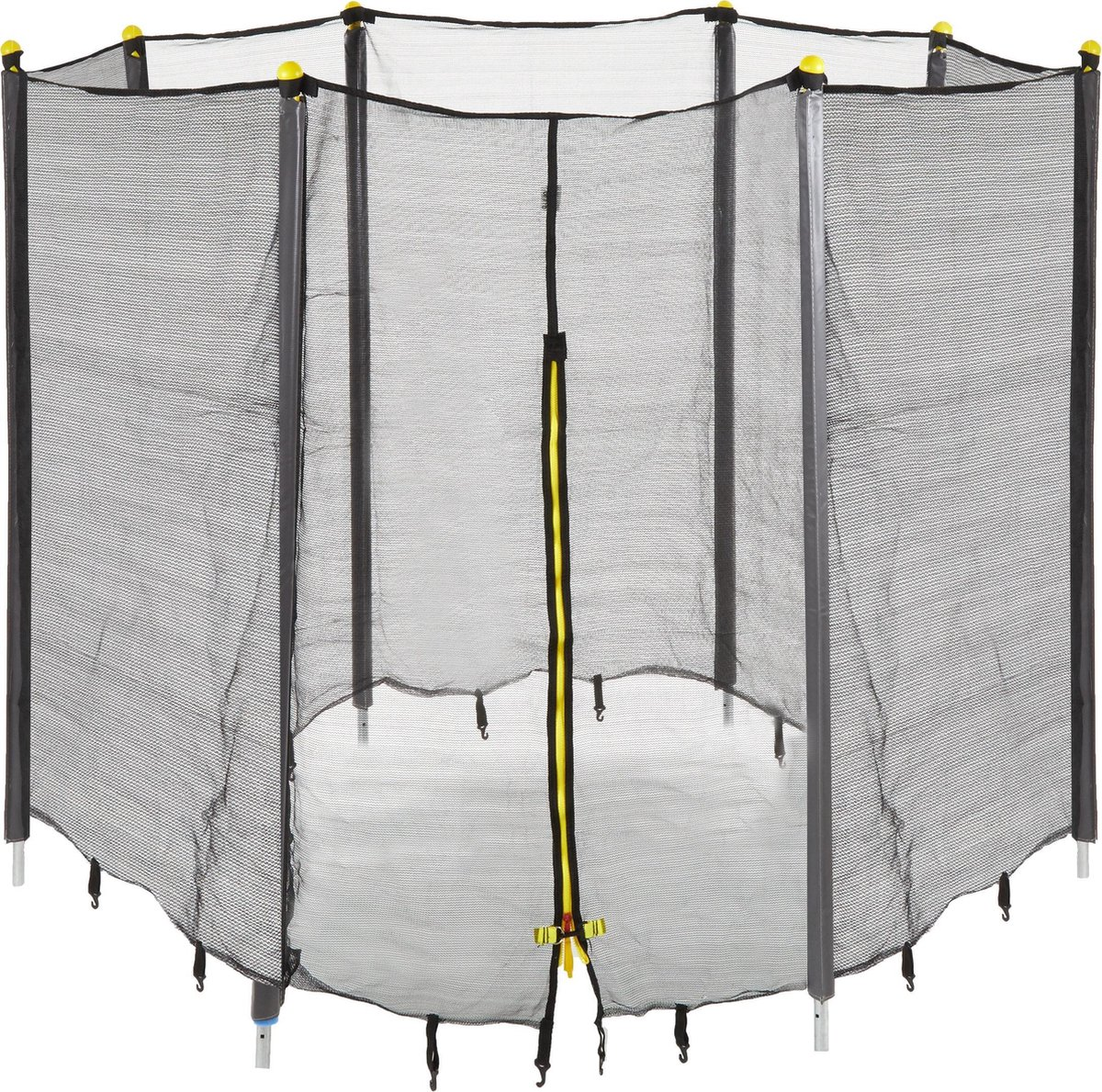 relaxdays Trampoline veiligheidsnet - net trampoline - trampolinenet - vangnet - met palen 366 cm