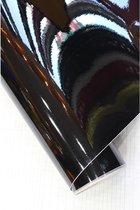 AutoStyle Car Wrapping Folie 152x200cm Glanzend Zwart, zelfklevend