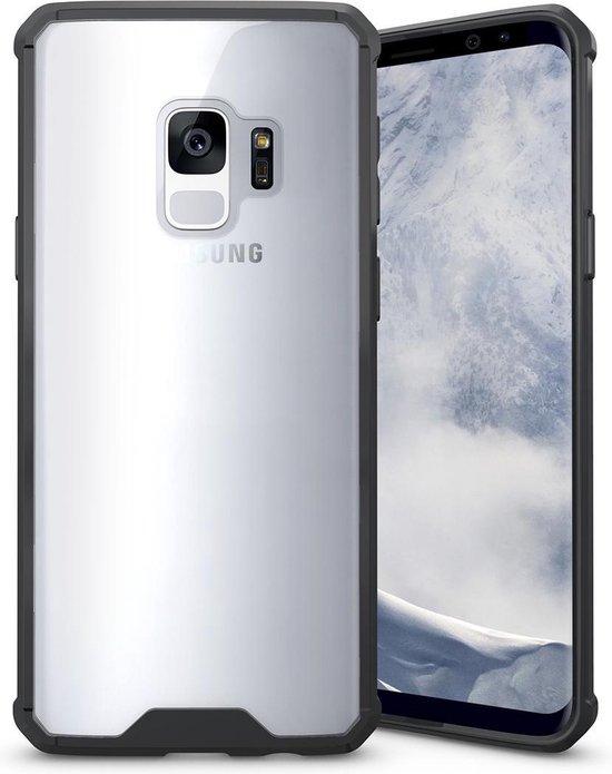 Let op type!! Voor Galaxy S9 acryl + TPU dekken schokbestendige transparant Armor beschermende back cover(Transparent)