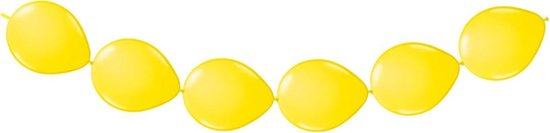 Gele Knoopballonnen 3 meter 8 stuks