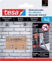 Tesa Klevende schroef - Voor steen en baksteen - belastbaar tot 5 kg - 2 stuks