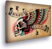 Skull Wings Canvas Print 100cm x 75cm