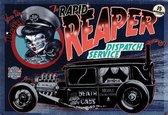 Fotobehang Alchemy Death Cab Cutie Car Skull | XL - 208cm x 146cm | 130g/m2 Vlies