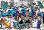 Fotobehang Graffiti Street Art | XL - 208cm x 146cm | 130g/m2 Vlies