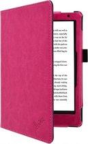 Kobo Aura 2nd edition 6 inch eReader Sleep Cover, Premium Business Case, Betaalbare roze Hoes-Sleepcover voor Kobo Aura editie 2 (2016), sleeve / tas, hot pink , merk i12Cover
