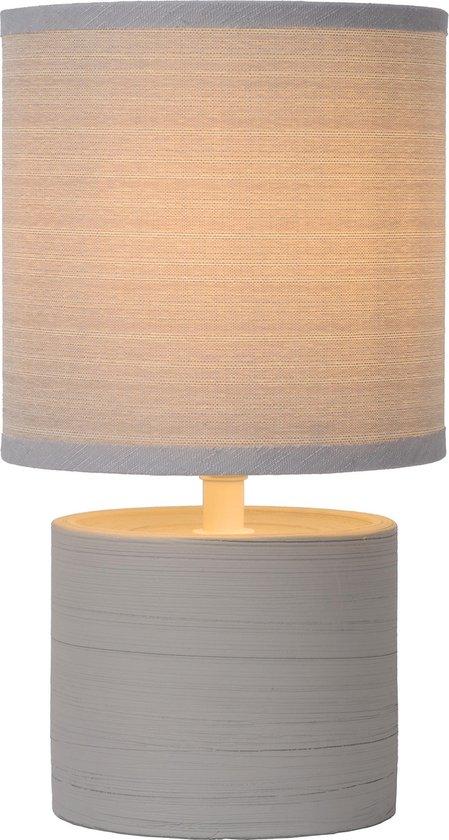 Lucide GREASBY Tafellamp - Ø 14 cm - E14 - Grijs