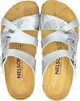 Nelson dames slipper - Zilver - Maat 36