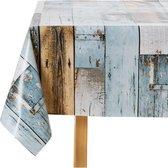 Wicotex Tafelkleed - 140x250cm - woody blauw