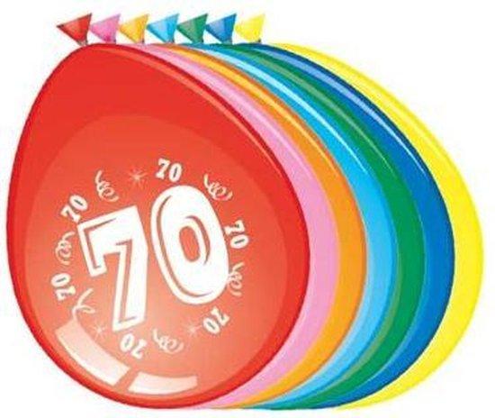 Ballonnen 70 jaar - 30cm - 8st