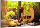 Canvas schilderij Wijn | Groen, Bruin | 120x70cm 1Luik