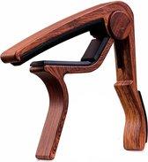 Gitaar Capo Deluxe – voor gitaren met stalen snaren – hout