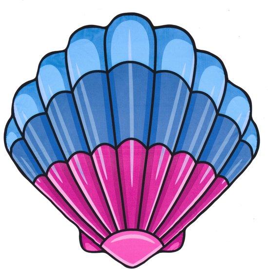 Yello Strandlaken Schelp 150 X 150 Cm Blauw/roze