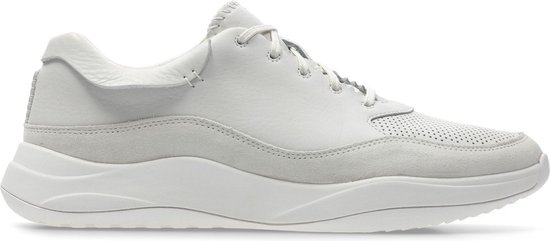 Clarks - Herenschoenen - Sift 91 - G - white leather - maat 6,5