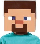Steve Minecraft™ masker voor kinderen - Verkleedmasker