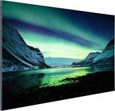 Ongelooflijke noorderlicht in Noorwegen Aluminium 30x20 cm - klein - Foto print op Aluminium (metaal wanddecoratie)