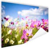 Bloemen in volle bloei Poster 90x60 cm - Foto print op Poster (wanddecoratie woonkamer / slaapkamer) / Bloemen Poster