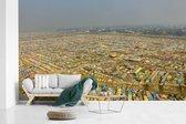 Fotobehang vinyl - Een overzicht van de typische huizen in Allahabad breedte 640 cm x hoogte 400 cm - Foto print op behang (in 7 formaten beschikbaar)