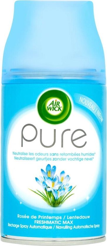 Air Wick Pure Freshmatic Max Automatische Spray Navulling Lentedauw - 250 ml