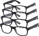 Etos Leesbril Mat Zwart +2.5 - 4 stuks