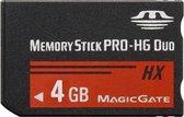 4 GB Memory Stick Pro Duo HX-geheugenkaart - 30 MB / seconde hoge snelheid, voor gebruik met PlayStation Portable (100% werkelijke capaciteit)