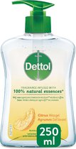 Dettol Handzeep - Citrusgeur verrijkt met 100% natuurlijke oliën - 250MLx2