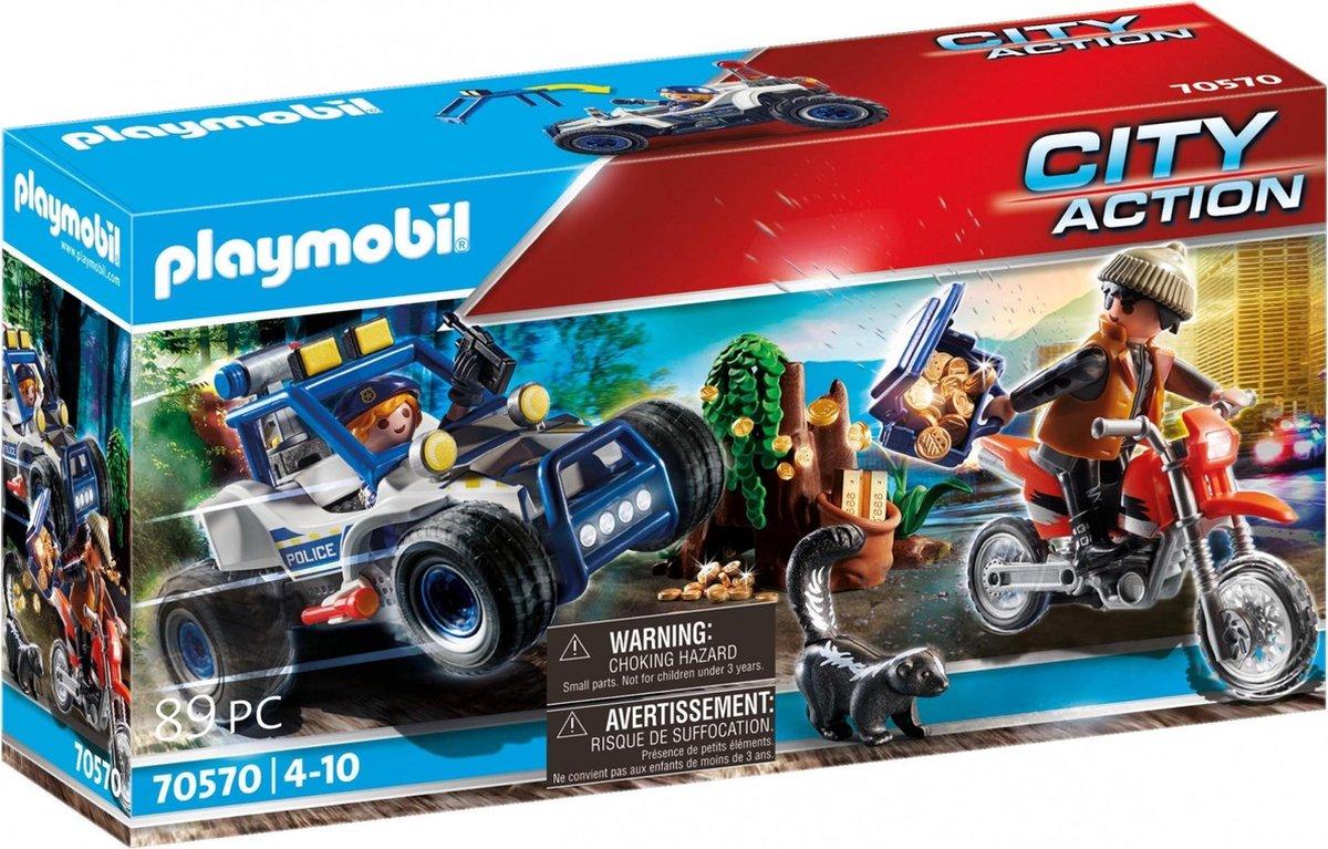 PLAYMOBIL City Action Politie SUV: achtervolging van de schattenrovers - 70570