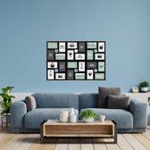 Decopatent® XL Fotolijst Collage voor 24 Foto's van 10x15 & 15x10 Cm - Fotolijsten - Fotolijstje met 24 fotokaders - 86x2.2x57 Cm