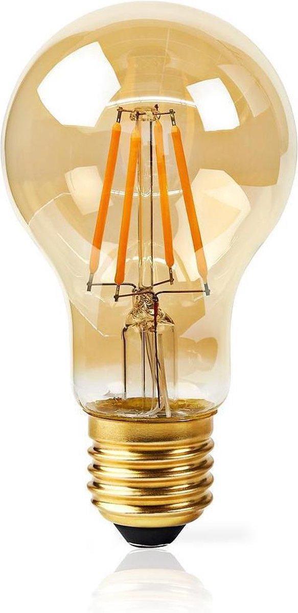 Dimabare Wi-Fi Slimme LED Filament Lamp   E27   A60   5 W   500 lm   Wit / Warm Wit   2200 K   Glas   Energieklasse: A+