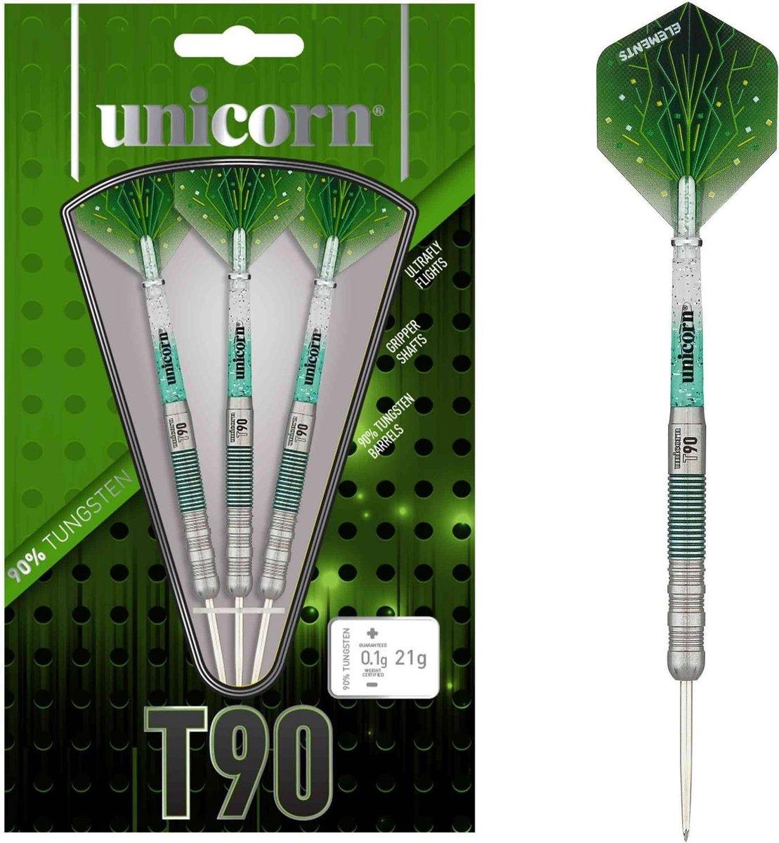 Unicorn Dartpijlen Core Xl T90 Steeltip 25g Tungsten Zilver