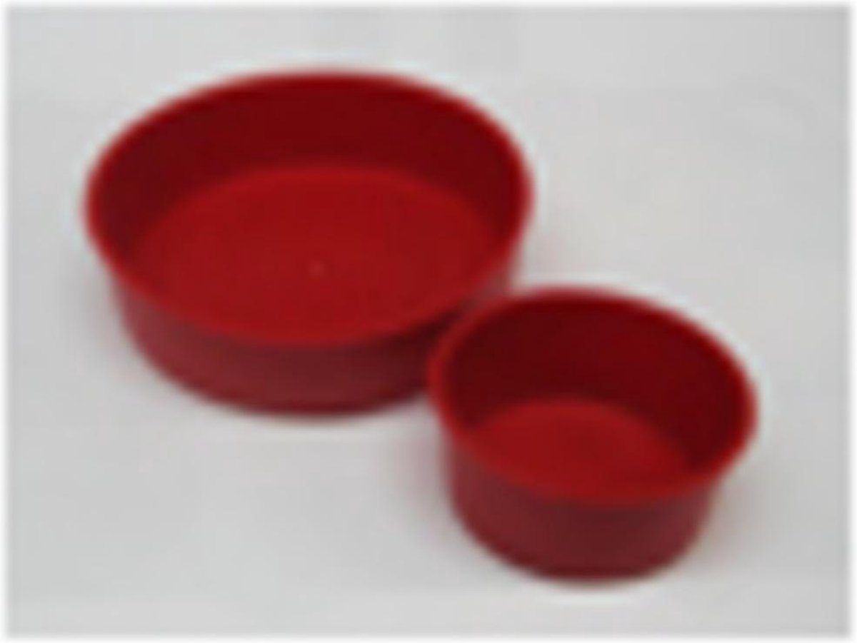 Sub PVC afv speciedeksels rood 75 mm