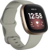 Shop4 - Fitbit Versa 3 Bandje - Small Siliconen Grijs