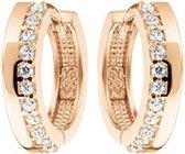 The Jewelry Collection Klapoorringen Zirkonia - Ros�Goud