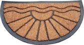 Deurmat Kokos / Rubber 40x70 cm - Halfrond