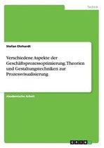 Verschiedene Aspekte der Geschaftsprozessoptimierung. Theorien und Gestaltungstechniken zur Prozessvisualisierung