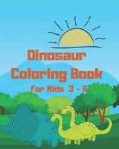 Dinosaur Coloring Book for Kids 3 - 6