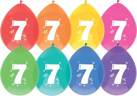 Ballonnen 7 jaar pak a 6 stuks