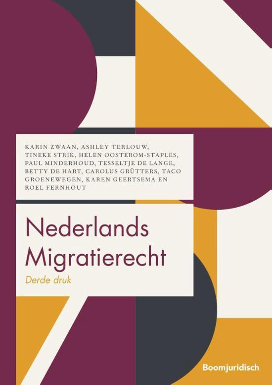 Boek cover Boom Juridische studieboeken  -   Nederlands Migratierecht van Karin Zwaan (Paperback)