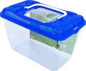 Plastic Aquarium met blauwe deksel - 2,3 liter