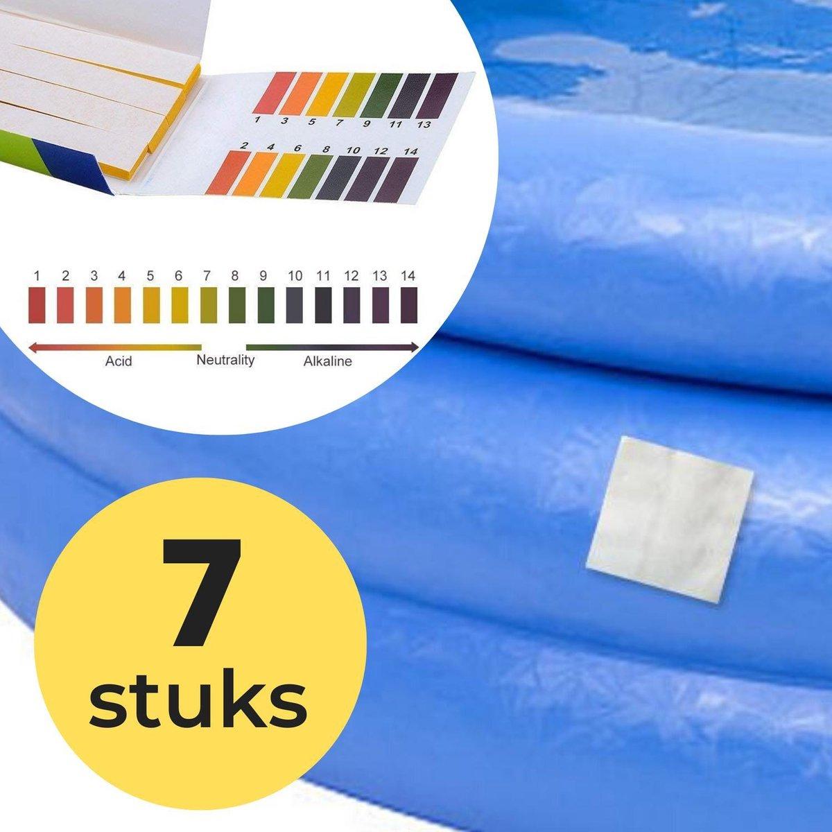 7x Zwembad Onderhoud Reparatie Set - Geschikt voor Opblaasbaar Zwembad en speelgoed met 80 PH meter strips - Pless®