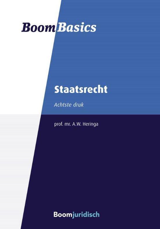 Boek cover Boom Basics  -   Staatsrecht van Aalt Willem Heringa (Paperback)