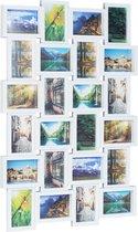 Relaxdays Fotolijst voor 24 Foto's - Fotocollage - Fotogalerie - 59 x 86 cm - Wit - Kunststof