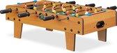 relaxdays voetbaltafel - speeltafel kind - voetbal tafelspel - kickertafel - tafelvoetbal
