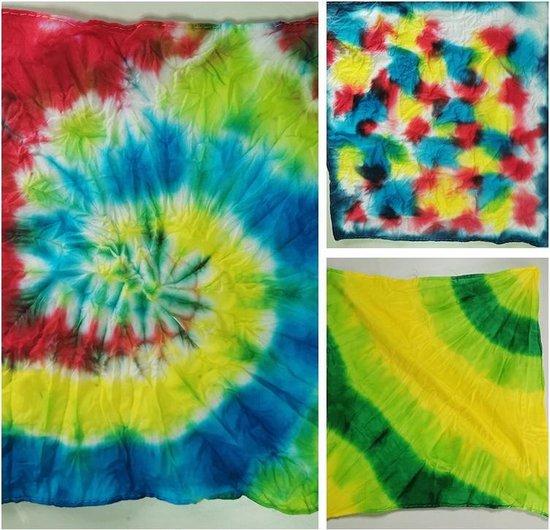 TIE DYE - DIY 12 Kleuren - Mega Kit - Complete verfset voor je kleding en textiel - Regenboogkleuren - Hoogwaardige kwaliteit - Kindvriendelijk - Kleuren in de beschrijving -Incl. handschoenen, elastiekjes en Tafel Cover- DIY - Gratis Verzending
