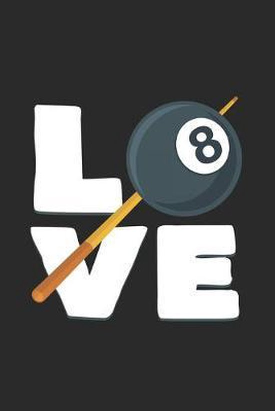 Love: 6x9 Billiards - grid - squared paper - notebook - notes